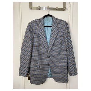 Other - Blue and Tan Check Sport Coat